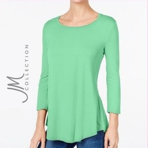JM Collection Scoop-Neck Long-Sleeve Tee NWT